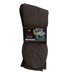 120 of Men's Brown Crew Socks , Sock Size 10-13