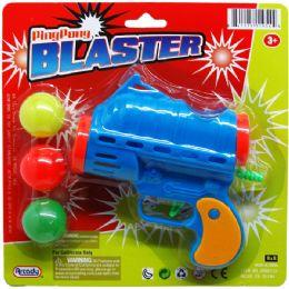 "72 of 5"" Ping Pong Toy Gun Play Set On Blister Card, 3 Assrt"