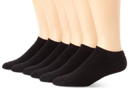 24 Units of Yacht & Smith Women's NO-Show Cotton Ankle Socks Size 9-11 Black Bulk Pack - Womens Ankle Sock