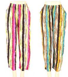 24 Units of Womens Fashion Striped Pants - Womens Pants
