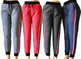 48 Units of Womens Winter Joggers With Stripe - Womens Pants