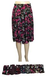 48 Units of Women Floral Printed Pleated Skirt - Womens Skirts