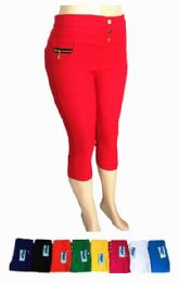 48 Units of Womens Ease In To Comfort Fit Modern Classic Capri With Pocket - Womens Capri Pants
