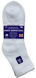 6 Units of Yacht & Smith Women's Diabetic Cotton Ankle Socks Soft NoN-Binding Comfort Socks Size 9-11 White - Women's Diabetic Socks