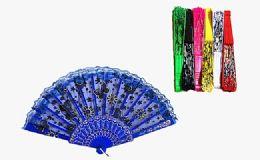 120 Wholesale Floral Folding Hand Fan Flowers Pattern Lace Handheld Fans