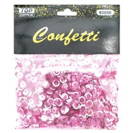 96 Units of Sequins Baby Pink - Streamers & Confetti