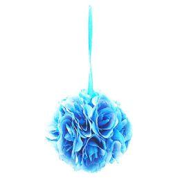 36 Units of Six Inch Pom Flower Silk Tiffany Blue - Wedding & Anniversary