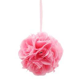 12 Units of Ten Inch Pom Flower Silk Baby Pink - Wedding & Anniversary