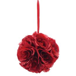12 Units of Ten Inch Pom Flower Silk Burgandy - Wedding & Anniversary