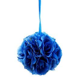 12 Units of Ten Inch Pom Flower Silk Dark Blue - Wedding & Anniversary