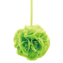 36 Units of Six Inch Pom Flower Lime Green - Wedding & Anniversary