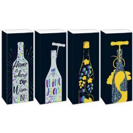 144 Units of Fancy Wine Bag - Gift Bags Hologram