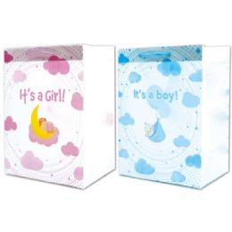 144 Units of Baby Gift Bag Large - Gift Bags Baby