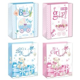 144 Units of Baby Bag Large - Gift Bags Baby