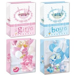 144 Units of Baby Bag Extra Large - Gift Bags Baby