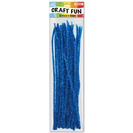 96 Bulk Twelve Inch Tinsel Stem Blue