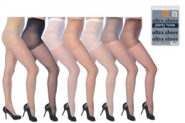 60 Units of Ultra Sheer Pantyhose In Assorted Colors - Womens Thigh High Stocking