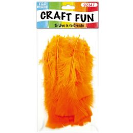 120 Units of Diy Feather Orange - Pom Poms and Feathers