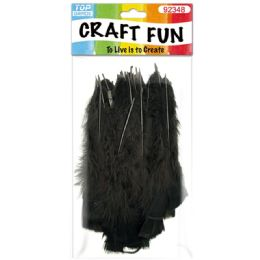 120 Units of Diy Feather Black - Pom Poms and Feathers