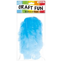 120 Units of Diy Feather Baby Blue - Pom Poms and Feathers
