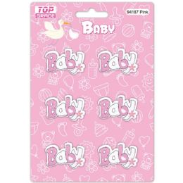 96 Wholesale Wooden Decoration Baby Pink Letter Baby