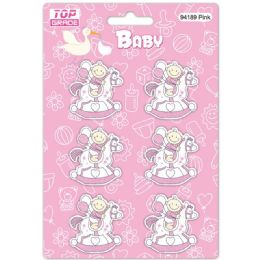 96 Wholesale Wooden Decoration Baby Pink Horse