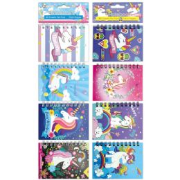 96 Units of Mini Notebook Unicorn - Memo Holders and Magnets