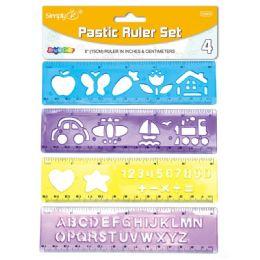 96 Units of Plastic Ruler Set - Rulers