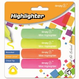 96 Bulk Four Count Mini Highlighters