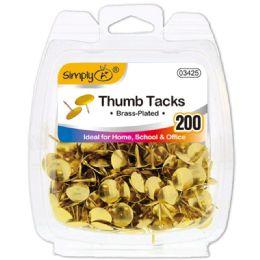 96 Units of Gold Thumb Tack - Bulletin Boards & Push Pins