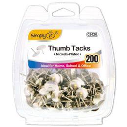 96 Units of Silver Thumb Tack 20 Count - Bulletin Boards & Push Pins
