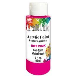 144 Bulk Acrylic Paint Hot Pink