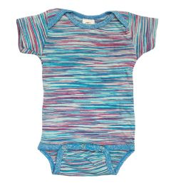 24 Wholesale Infant Assorted Stripes Onesie, Size L