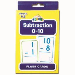 24 Bulk Flash Cards Subtraction