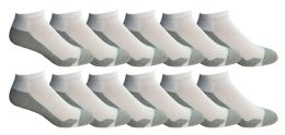 12 Units of Yacht & Smith Mens Cotton Ankle Socks, No Show Athletic Socks - Mens Ankle Sock