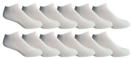 12 Units of Yacht & Smith Mens Cotton Ankle Socks, Now Show Athletic Socks - Mens Ankle Sock