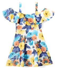 6 of Girls Flower Print Dress In Size 7-14