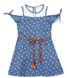 6 Units of Girls' Indigo Jean Dress In Size 4-6x - Girls Dresses and Romper Sets