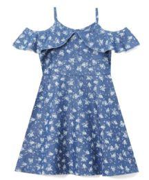 6 Units of Girls' Denim Dress In Size 4-6x - Girls Dresses and Romper Sets