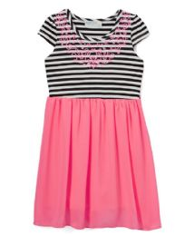 6 Units of Girls' Neon Pink Chiffon Dress In Size 4-6x - Girls Dresses and Romper Sets