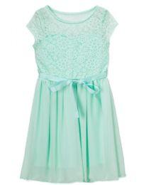 6 Units of Girls' Mint Chiffon Dress In Size 7-14 - Girls Dresses and Romper Sets