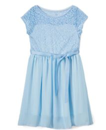 6 Units of Girls' Sky Chiffon Dress In Size 7-14 - Girls Dresses and Romper Sets