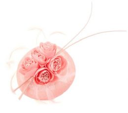 12 of Sinamay Fascinator With Flower And Feather Trim Pink