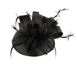 12 of Sinamay Fascinator With Ribbon Flower And Feather Trim In Black