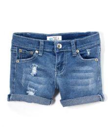 12 Units of Girls' Denim Shorts Size 7-14 - Girls Apparel