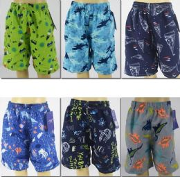 72 of Boy's Assorted Printed Bathing Suit