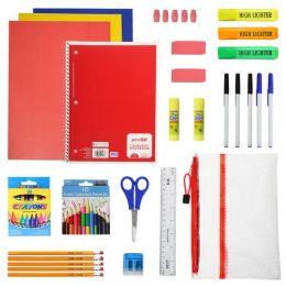 24 Bulk 50 Piece Kids Bulk School Supply Kits