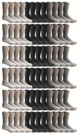 120 Units of Yacht & Smith Women's Sports Crew Socks, Size 9-11, Assorted - Womens Crew Sock