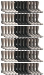 60 Units of Yacht & Smith Women's Sports Crew Socks, Size 9-11, Assorted - Womens Crew Sock