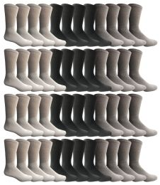 60 Wholesale Yacht & Smith Men's Sports Crew Socks, Assorted Colors Size 10-13